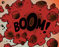 Comic book explosions - Boom!. Comic book explosions. Additional vector format Illustrator 8 eps Stock Images