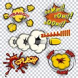 Comic book explosions and words Royalty Free Stock Photography