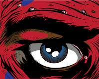 Comic book - eye. Human eye. comic book style. Additional  format Illustrator 8 eps Stock Images