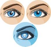 Comic book eye stock illustration
