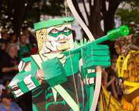 A comic book fan dressed as Green Arrow Royalty Free Stock Images