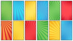 Free Comic Book Halftone Background. Vintage Superheroes Comics Poster Backdrop, Halftone Texture And Superhero Vector Stock Photography - 137083632