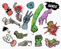 Comic book - Hands. Human hands. comic book style. Additional  format Illustrator 8 eps Stock Image