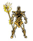 Comic book illustrated cosmic trojan character. Original comic book illustrated cosmic trojan character Royalty Free Stock Photography