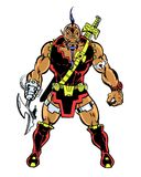 Comic book illustrated super villain alien. The orion cleaver villain character Royalty Free Stock Image