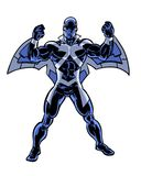 Comic book illustrated winged hero character Royalty Free Stock Photography