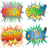 Comic Book Illustrations Royalty Free Stock Images