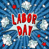 Comic Book Labor Day Royalty Free Stock Image