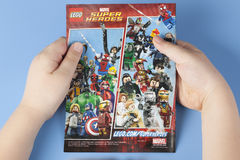 Comic book Lego Marvel Super Heroes Royalty Free Stock Photos