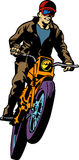 Comic book motorcyclist Stock Photography