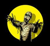 Comic Book Mummy stock illustration