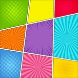 Comic book page background Royalty Free Stock Image