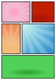 Comic book page pop art template stock illustration