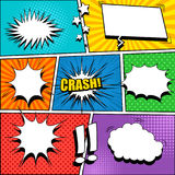 Comic Book Page Template Stock Photo