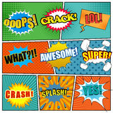 Comic book page template with expressions stock illustration