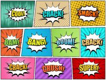 Comic book pages set royalty free illustration