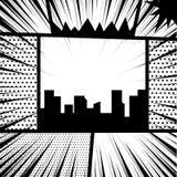 Comic book pop art monochrome mock up Stock Photography
