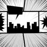 Comic book pop art monochrome mock up Stock Photos