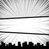 Comic book pop art monochrome mock up Stock Images