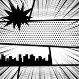 Comic book pop art monochrome mock up Royalty Free Stock Photography