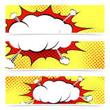 Comic book retro style web header Stock Photo