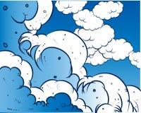 Comic book - sky. Additional file format Illustrator 8 eps Stock Photos