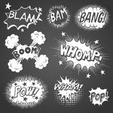 Comic Book Sound Effects Royalty Free Stock Images