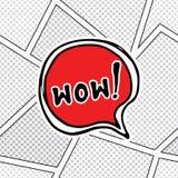 Comic book speech bubble, cartoon sound effect. Hand drawn pop art style sign vector illustration. Royalty Free Stock Photo