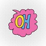 Comic book speech bubble, cartoon sound effect. Hand drawn pop art style sign vector illustration. Stock Photos