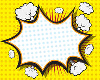 Comic Book Speech Bubble. Pop art Background Vector Illustration Stock Photos