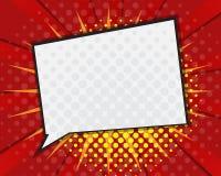 Comic Book Speech Bubble,Pop art Cartoon Stock Photo