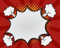Comic Book Speech Bubble,Pop art Cartoon Royalty Free Stock Images