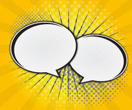 Comic Book Speech Bubble,Pop art Cartoon Royalty Free Stock Photo