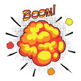 Comic book speech bubbles depicting of sounds Royalty Free Stock Image