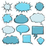 Comic Book Speech Bubbles Royalty Free Stock Images
