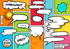 Comic Book Speech Bubbles Stock Photography