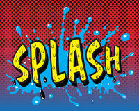 Comic book - Splash Royalty Free Stock Image