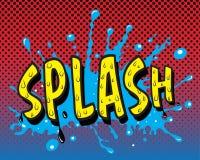 Comic book - Splash. Additional   format Illustrator 8 eps Royalty Free Stock Image