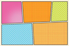 Comic book storyboard style pop art Stock Image