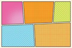 Comic book storyboard style pop art. Retro vector illustration Stock Image