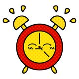 Comic book style cartoon of a alarm clock. Illustrated comic book style cartoon of a alarm clock vector illustration