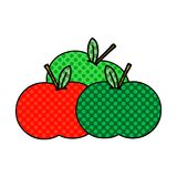 Comic book style cartoon of a apples. A creative comic book style cartoon apples royalty free illustration