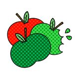 Comic book style cartoon apples. A creative illustrated comic book style cartoon apples vector illustration