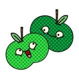 Comic book style cartoon apples. A creative illustrated comic book style cartoon apples royalty free illustration