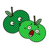 Comic book style cartoon of a apples. Illustrated comic book style cartoon of a apples vector illustration