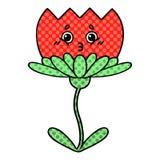 Comic book style cartoon flower. A creative illustrated comic book style cartoon flower royalty free illustration