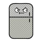 Comic book style cartoon fridge freezer. A creative illustrated comic book style cartoon fridge freezer vector illustration