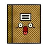Comic book style cartoon notebook. A creative illustrated comic book style cartoon notebook stock illustration