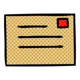 Comic book style cartoon paper envelope. A creative illustrated comic book style cartoon paper envelope royalty free illustration