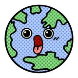 Comic book style cartoon planet earth. A creative illustrated comic book style cartoon planet earth royalty free illustration